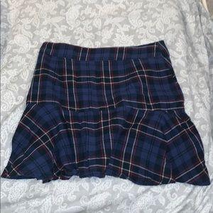 LF plaid mini skirt